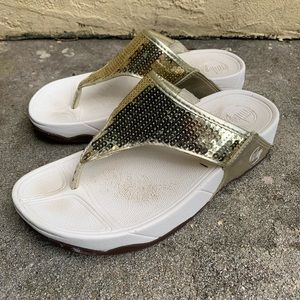 Sparkly, like new Fitflops